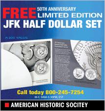 American Historic Society - JFK Half-Dollar Set