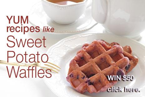 Sweet Potato Waffles recipe