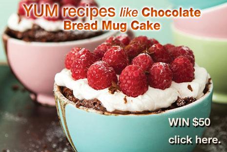 Yum Recipes – Chocolate Bread Mug Cake
