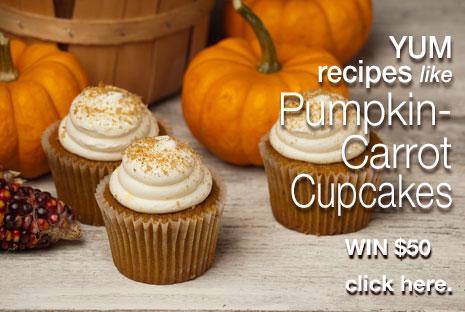 Pumpkin-Carrot cupcakes recipe